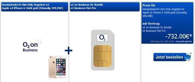 o2 on Business XL mit Flat Pro bei Handydealer24