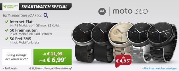o2 Smart Surf mit Motorola Moto 360