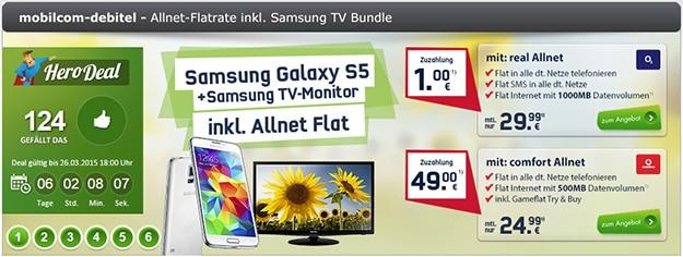 HeroDeal Samsung Galaxy S5 mit Allnetflat