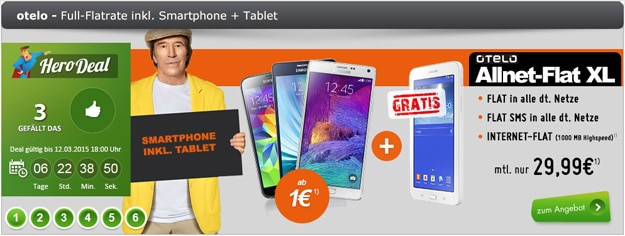 Otelo Allnet-Flat XL mit Handy und Tab 3
