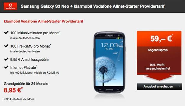 Samsung Galaxy S3 Neo mit Klarmobil Allnet-Starter
