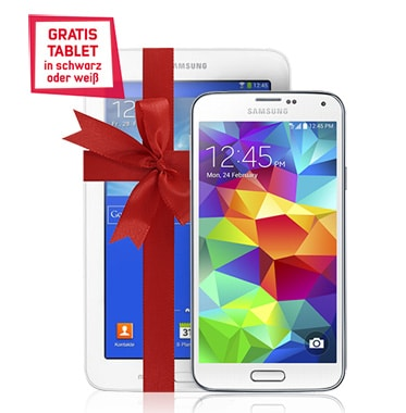 Samsung Galaxy S5 mit Tab 3 (7.0) Lite im Vodafone Smart Light