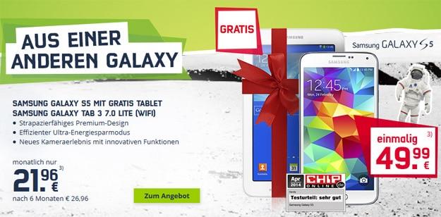 Samsung Galaxy S5 mit Tab 3 (7.0) Lite im Telekom Special Allnet