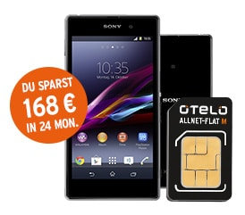 Sony Xperia Z1 Compact mit Otelo Allnet-Flat M