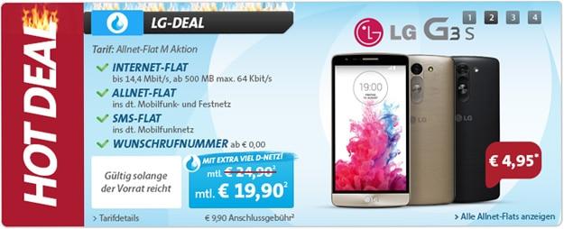 Sparhandy Allnet-Flat M mit LG G3 s