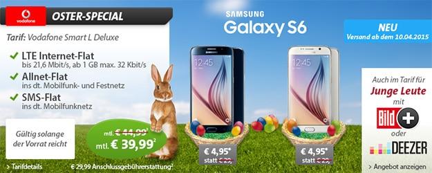 Sparhandy Ostern mit Vodafone Smart L und Samsung Galaxy S6