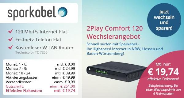 Sparkabel 2Play Comfort 120 für Wechsler
