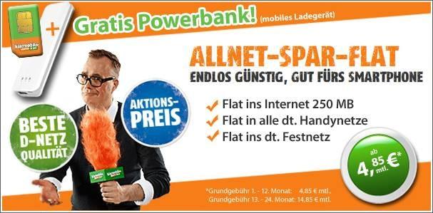 Telekom Allnet-Flat von Klarmobil mit Powerbank oder Kopfhörer