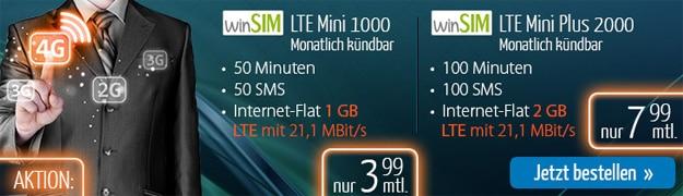 winSIM LTE Mini-Tarife