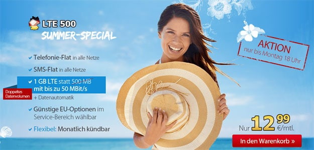 DeutschlandSIM LTE 500 im Summer Special