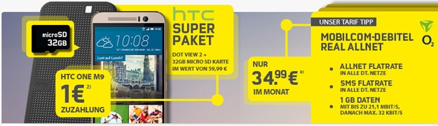 HTC One (M9) mit Dot-Cover