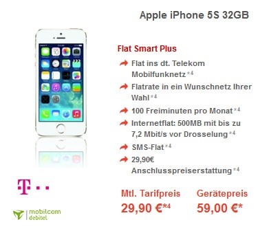 iPhone 5s mit Telekom Flat Smart (md)