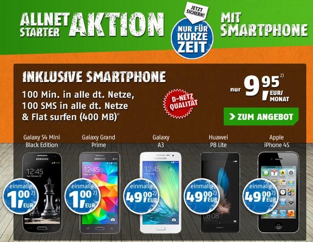 Klarmobil Allnet Starter mit Handys
