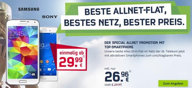 md Special Allnet mit Sony Xperia Z3