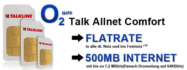 o2 Comfort Allnet für 6,99 € im Monat