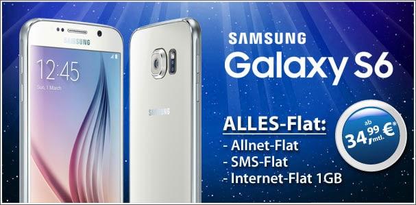 o2 real Allnet mit Samsung Galaxy S6