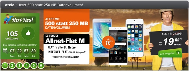 Otelo Allnet Flat M mit B-Ware iPhone im Hero-Deal