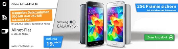 Otelo M mit Samsung Galaxy S5
