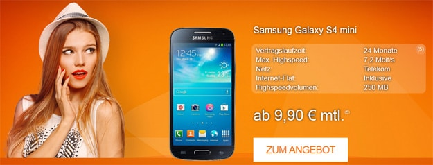 Samsung Galaxy S4 Mini mit Talk Easy 100