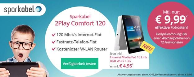 Sparkabel mit Huawei Mediapad 10 Link