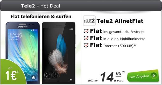 Tele2 Allnet-Flat mit Huawei P8 Lite