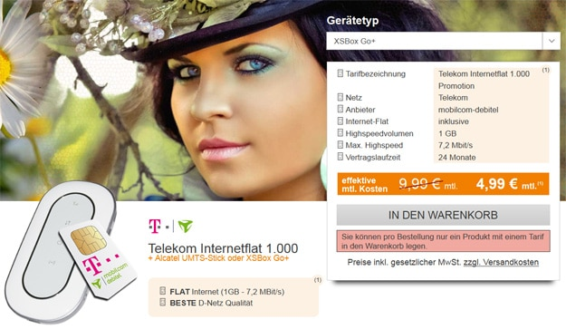 Telekom Datenflat mit UMTS Router