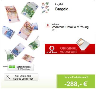 Vodafone DataGo M mit 288 € Auszahlung