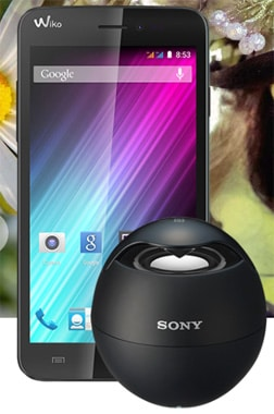 Wiko Lenny mit Sony Soundbox und Talk Easy 100