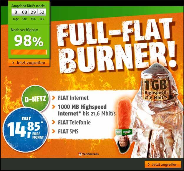 Crash Full Flat Burner