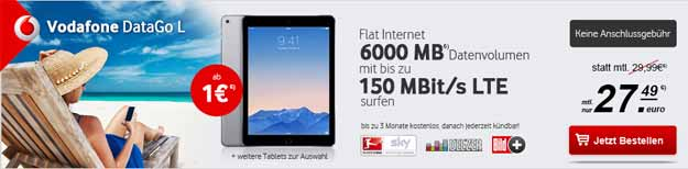 DataGo L mit iPad Air 2, iPad Mini 3 u.a.