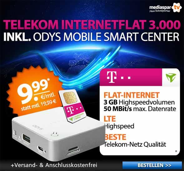 Mediaspar Telekom Internetflat 3.000 mit Odys