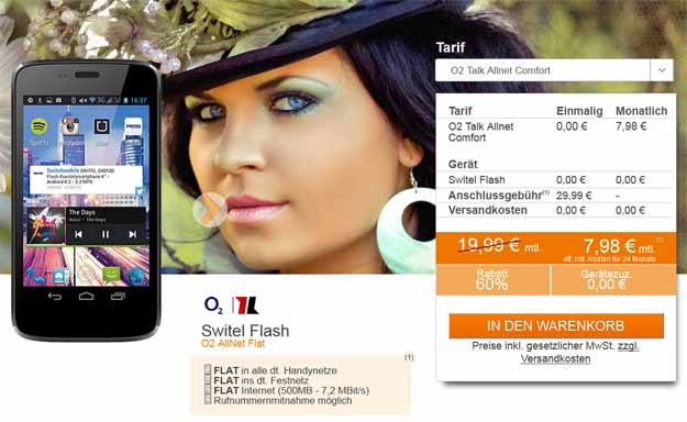 o2 Allnet Comfort mit Switel Flash