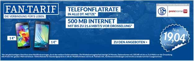 Schalke-Fan-Tarif mit Samsung Galaxy S5 für 1 €