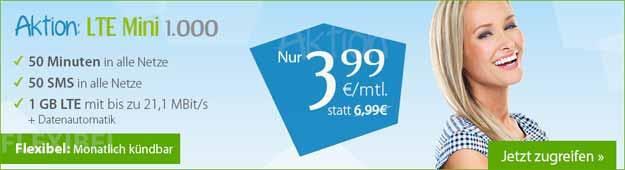 winSIM LTE Mini Tarife ab 3,99 €