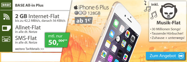 BASE all-in plus mit iPhone 6 Plus 128GB
