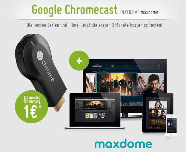 Google Chromecast mit Maxdome