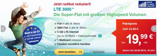 Hellomobil LTE 3000 für 19,99 €
