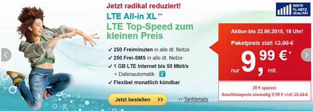 Hellomobil LTE All-in XL für 9,99 € im Monat