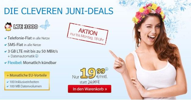 DeutschlandSIM LTE 1500 im Juni-Deal