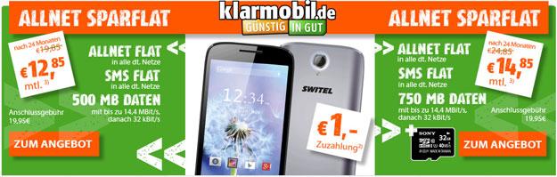 Klarmobil AllNet-Spar-Flat mit Switel Dragon