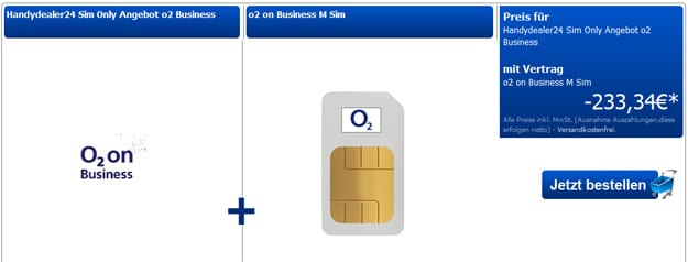 o2 on Business M mit Auszahlung