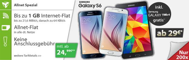 Samsung Galaxy S6 mit Vodafone Comfort Allnet