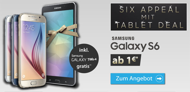 Samsung Galaxy S6 mit Tab 4 im Deal