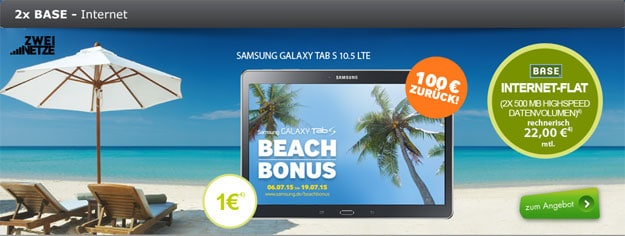 Samsung Galaxy Tab S mit Base Internet