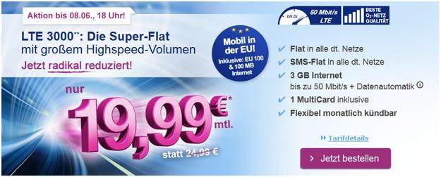 simply LTE 3000 für 19,99 € im Monat