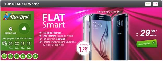 Telekom Flat Smart mit Samsung Galaxy S6