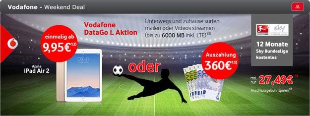 Vodafone DataGo L mit 360 € Auszahlung