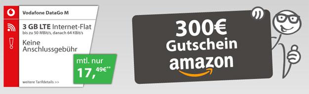 Vodafone DataGo M mit 300 Euro Amazon-Gutschein