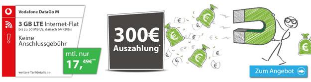 Vodafone Data Go M mit 300 € Auszahlung