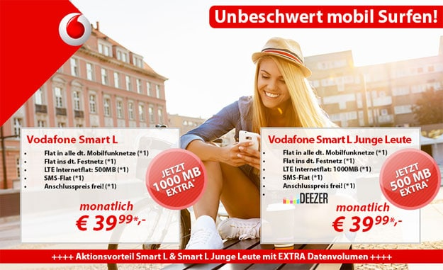 Vodafone Smart L 1,5 GB Aktion